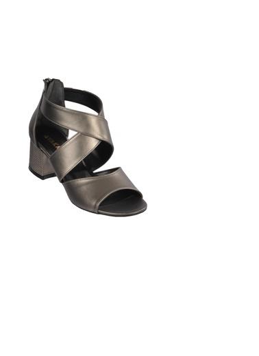 Maje 5045 Platin Kadın Topuklu Ayakkabı Gümüş